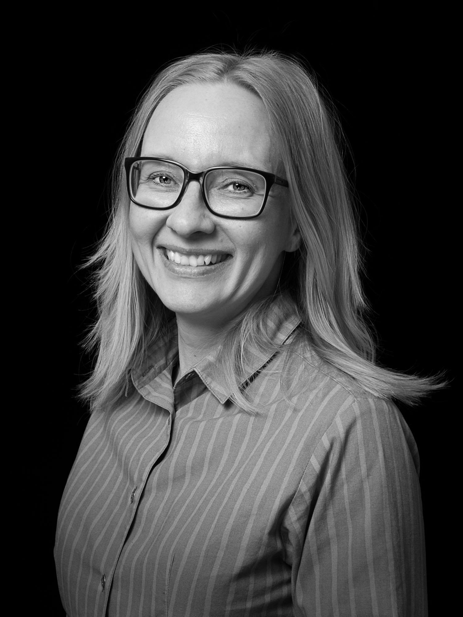 Black and white picture of Tarja Tikkanen