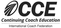 Logo of the International Coaching Federation and continuing coach education